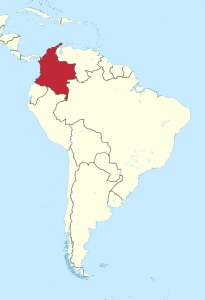 map of colombia, south america
