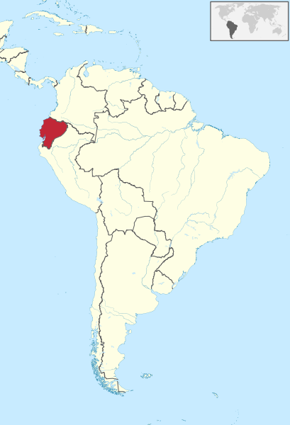 map of Ecuador, south america