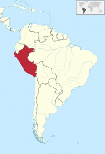 map of peru, south america