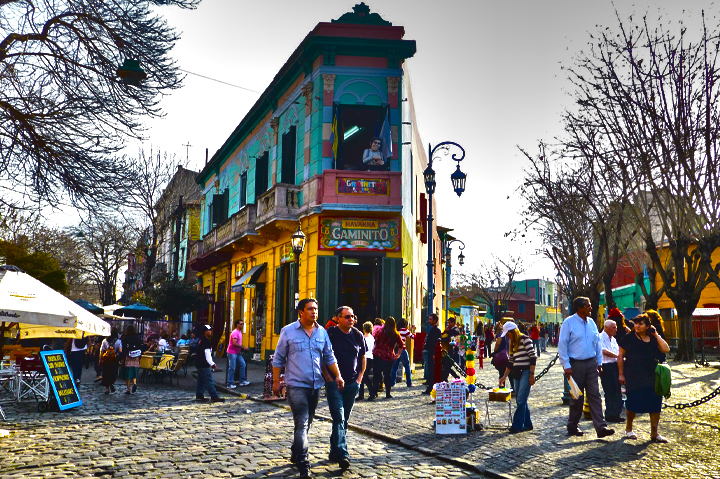 PUBLIC SQUARE IN LA BOCA ,Argentina, South America