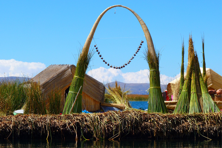 Reed Island, Titicaca lake, Bolivia, South America