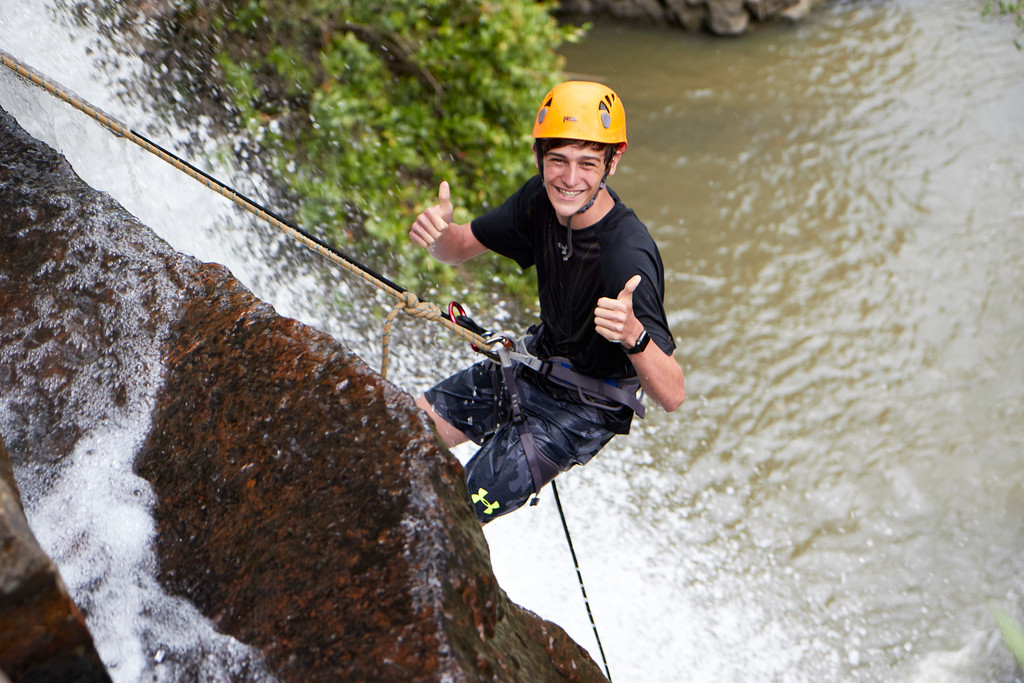 Rappelling, custom trips in Colombia, adventure travel, south america